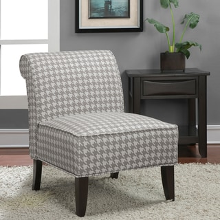 'Sadie' Grey Houndstooth Slipper Chair
