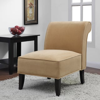 Sadie' Honey Upholstery Slipper Chair