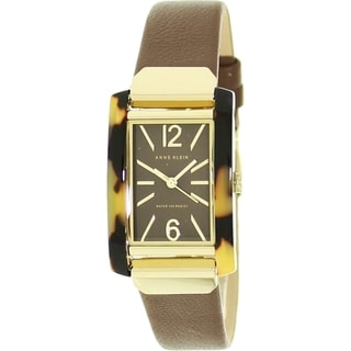 Anne Klein Women's AK-1146TOBN Brown Leather Quartz Brown Dial Watch