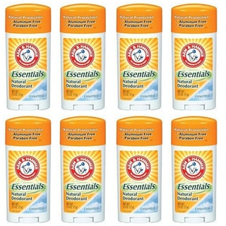 Arm &amp; Hammer Unscented Essentials Natural Protection 2.5-ounce Deodorant (Pack of 8)