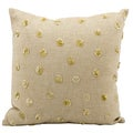 Mina Victory Luminescence Beige/ Gold Sunny Days 16 x 16-inch Decorative Pillow by Nourison