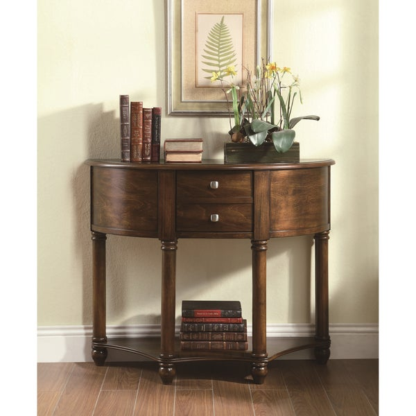 Traditional Cherry 1-drawer Console Sofa Table