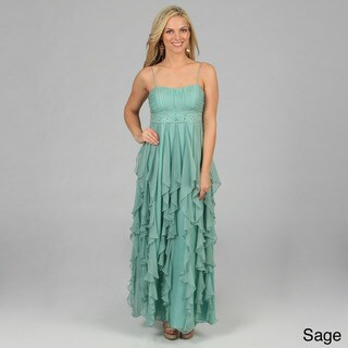 Decode 1.8 Women's Long Cascading Ruffled Evening Gown