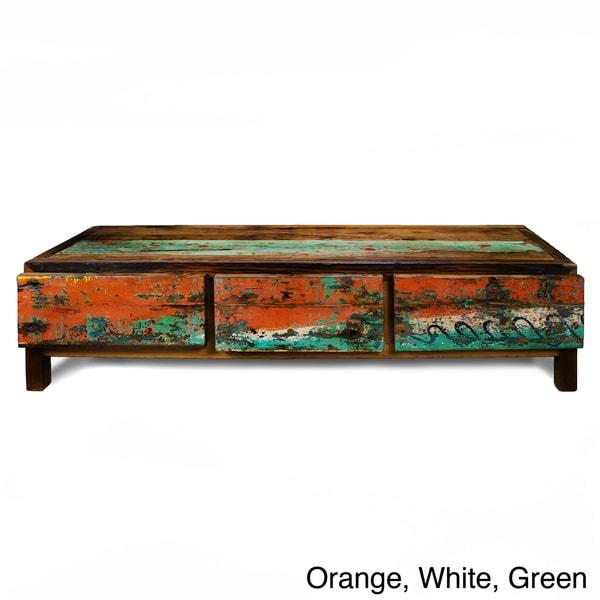 Ecologica Three-Drawer Hardwood TV Stand
