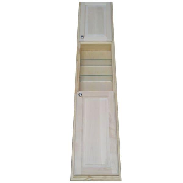 Baldwin 78-Inch Natural Pine Recessed Pantry Storage Cabinet