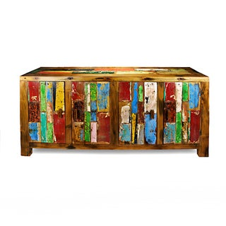 Patchwork Hardwood TV Media Console