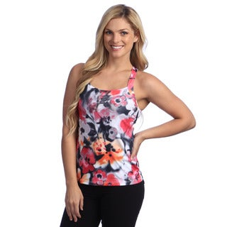 Anatomie Womens 'Vella' Grey/Orange Flower Tank