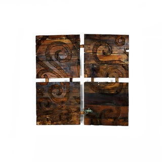 Ecologica Reclaimed Wood Hand Carved Wall Decor