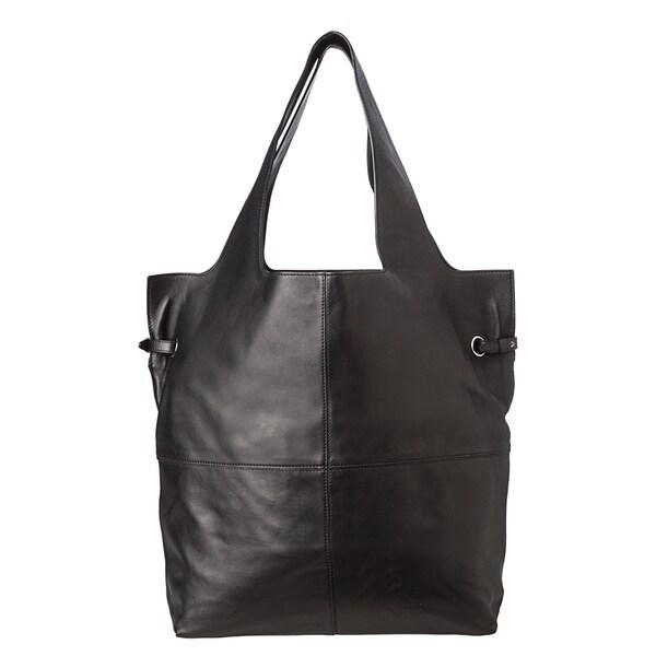 Givenchy 'George V' Large Black Leather Shopper Bag
