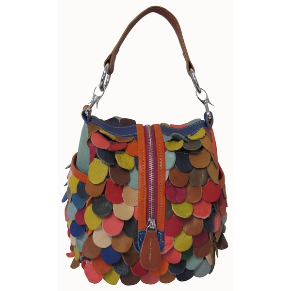 Amerileather 'Rainbow Feesh' Multi Color Leather Purse