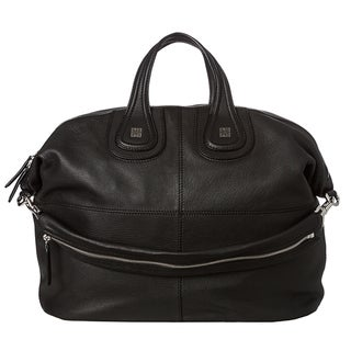 Givenchy 'Nightingale' Large Black Leather Satchel
