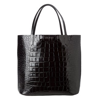 Givenchy 'Antigona' Black Croc-stamped Shopper Bag