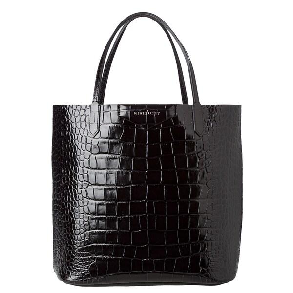 Givenchy 'Antigona' Black Croc-stamped Shopper Bag