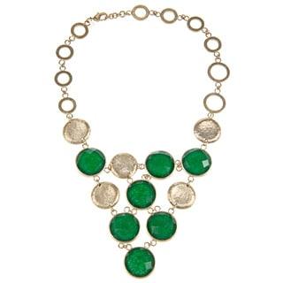 Rivka Friedman Green Quartzite Bib Necklace