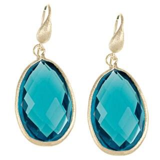 Rivka Friedman London Blue Topaz Bold Teardrop Gem Earrings