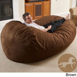 Sale alerts for  Christopher Knight Larson Faux Suede 8-foot Lounger Bean Bag - Covvet