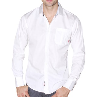 191 Unlimited Men's Subtle Stripe Button-up Shirt