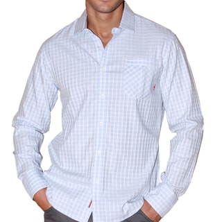 191 Unlimited Men's Window Pane Woven Shirt