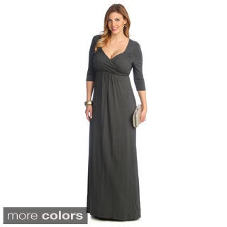 Kiyonna Women's 'Veronica' Cross Over Plus Maxi Dress
