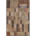 Pak Persian Hand-knotted Patchwork Multi-colored Wool Rug (5'8 x 8'10)