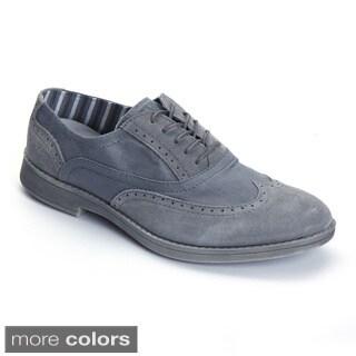 Hey Dude Men's 'Vinci' Suede Canvas Oxford Shoes