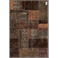 "Pak Persian Traditional Hand-Knotted Patchwork Multicolored Wool Rug (3'10"" x 5'9"")"