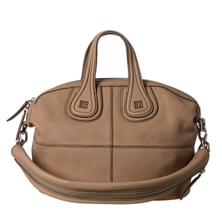Givenchy 'Nightingale' Small Beige Leather Satchel