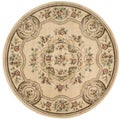 Aubusson Collection Ivory Rug (5'3 Round)