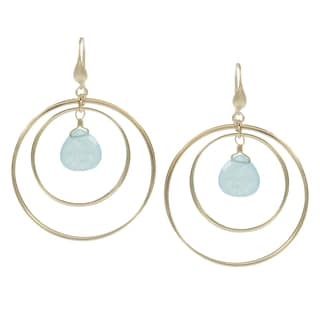 Rivka Friedman Caribbean Blue Quartzite Earrings