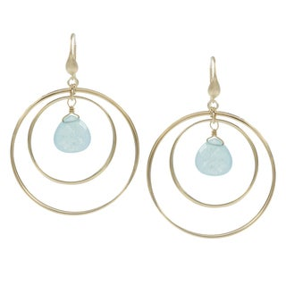 Rivka Friedman Caribbean Blue Quartzite Earrings
