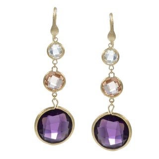Rivka Friedman 18K Crystal Round Earrings
