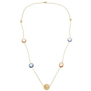 Rivka Friedman Crystal Gem and Bead Necklace