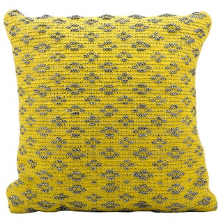Mina Victory Woven Luster Yellow 20 x 20-inch Decorative Pillow by Nourison