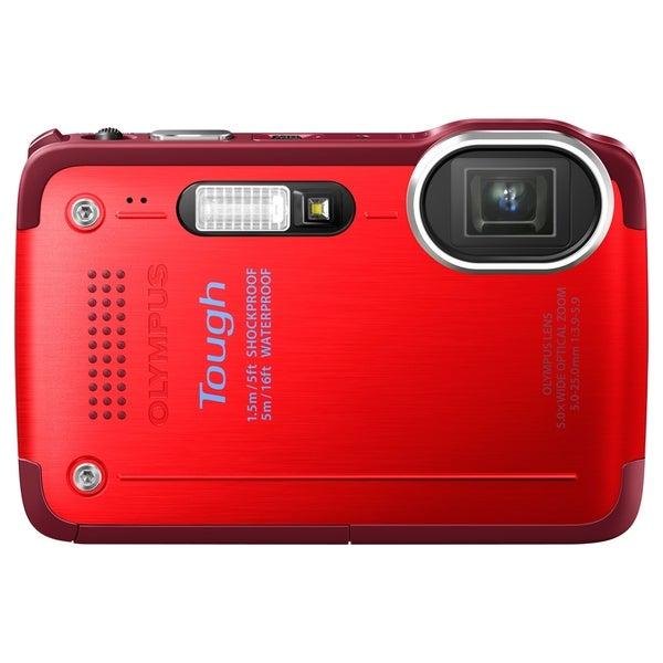 Olympus Tough TG-630 iHS 12 Megapixel Compact Camera - Red
