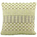 Mina Victory Woven Luster Green 20 x 20-inch Decorative Pillow by Nourison