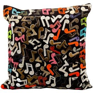 Mina Victory Natural Leather Hide Multicolor 20 x 20-inch Decorative Pillow by Nourison