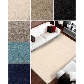 Nourison Amore Solid Shag Area Rug (5'3 x 7'5)