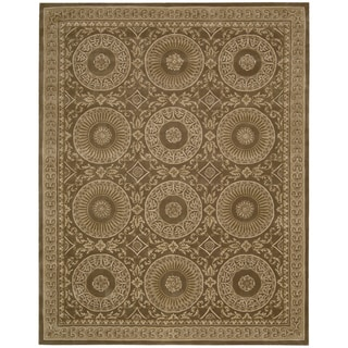 Nourison Hand-tufted Versailles Palace Mocha Brown Rug (5'3 x 8'3)