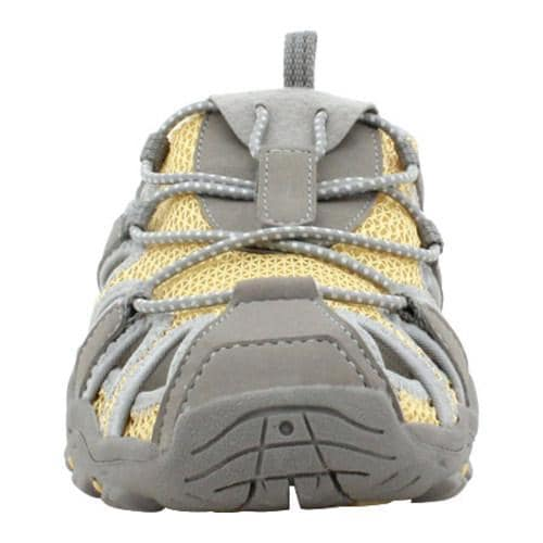 Women's Propet Discover Slide Grey/Pale Yellow