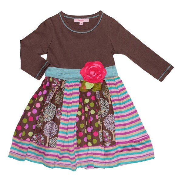 Beetlejuice London Girl's Mixed Pattern Dress