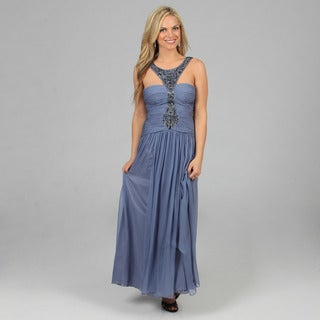 Decode 1.8 Women's Cornflower Jeweled Neckline Strapless Long Gown