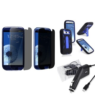 BasAcc Case/ Car Charger/ LCD Protector for Samsung Galaxy S III/ S3