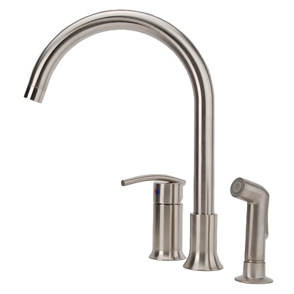 Brushed Nickel Kitchen Faucet : ... Vincennes Single-handle Brushed Nickel Kitchen Faucet with Side Spray