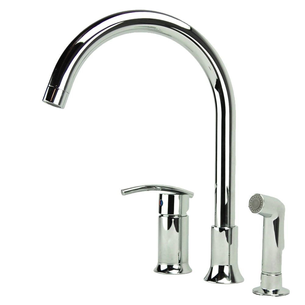 Fontaine Faucets : Fontaine Vincennes Single-handle Chrome Kitchen Faucet with Side Spray ...