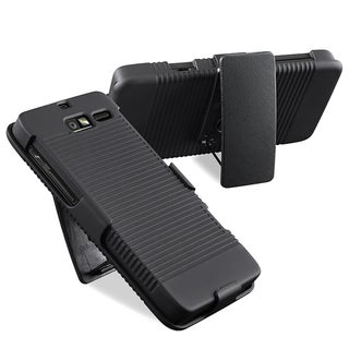 BasAcc Black Swivel Holster with Stand for Motorola Droid Razr M XT907