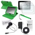 BasAcc Green Case/ Protector/ Stylus/ Headset/ Wrap for Kindle Fire HD 7-inch