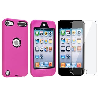 BasAcc Pink Case/ Screen Protector for Apple iPod Touch Generation 5