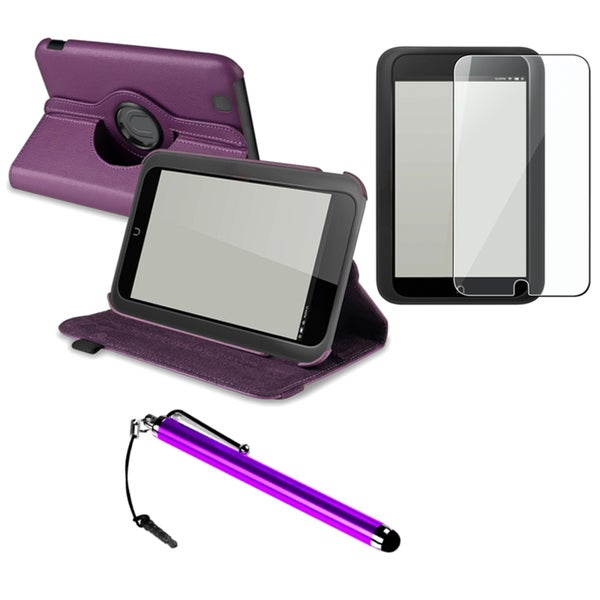 INSTEN Purple Phone Case Cover/ Protector/ Stylus for Barnes & Noble Nook HD 360