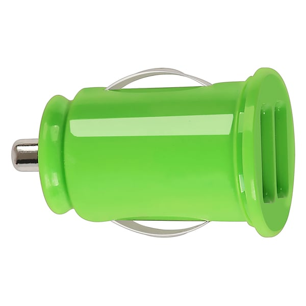 BasAcc Green Universal Dual USB Mini Car Charger Adapter