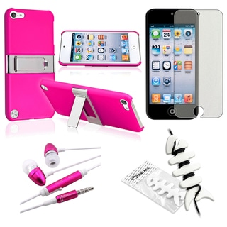 BasAcc Pink Case/ Protector/ Headset for Apple iPod Touch Generation 5